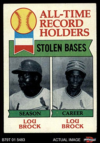 1979 Topps # 415 All-Time Record Holders - Stolen Bases Lou Brock St. Louis Cardinals (Baseball Card) Dean's Cards 4 - VG/EX Cardinals