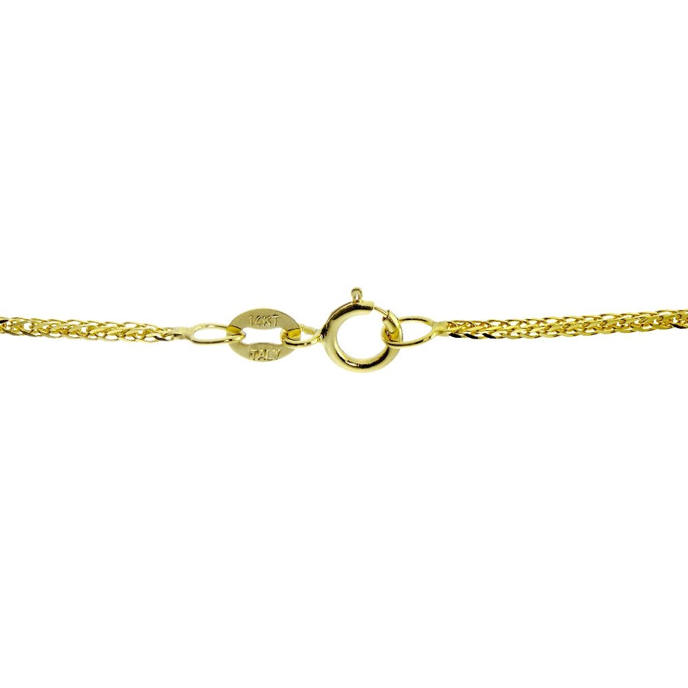 Bria Lou 14k Yellow Gold .8mm Italian Spiga Wheat Chain Anklet, 9 Inches by Bria Lou (Image #2)