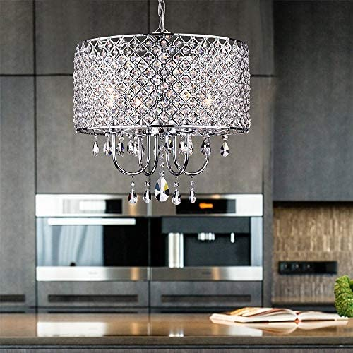 """Whse of Tiffany RL5633 Deluxe Crystal Chandelier, 9"""" x 17"""" x 17"""""""