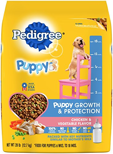 (Pedigree Puppy Growth & Protection Dry Dog Food Chicken & Vegetable Flavor, 28 Lb. Bag (Discontinued By Manufacturer))