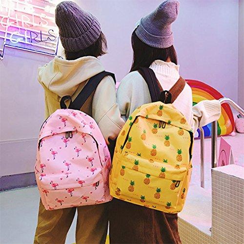 nylon stampa di sveglio dello della dell'ananas donne dell'adolescente scuola frutti lo di delle Strawberry zaino per di Laoling di modo Borse zaino FHxqwtvt