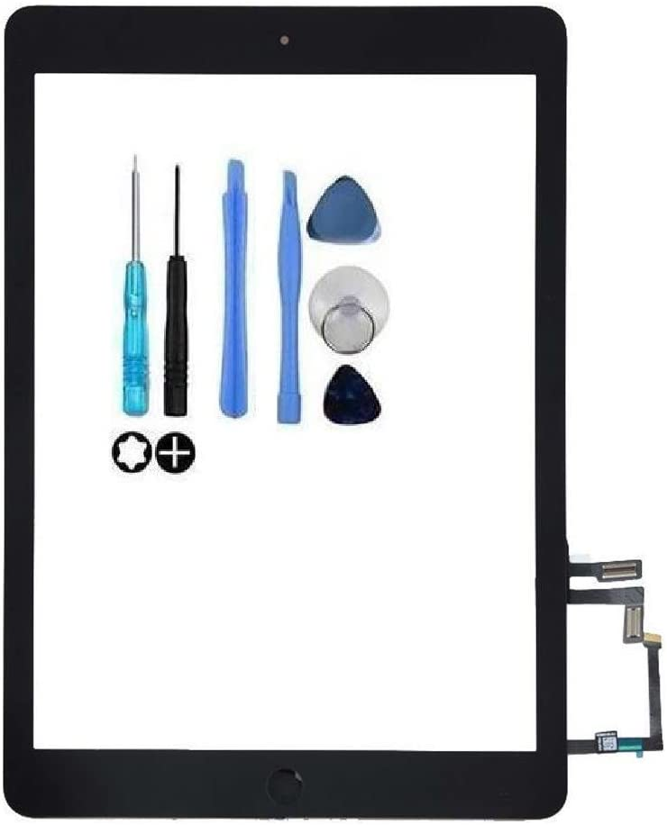Touch Screen Front Panel with Home Button and Repair Tools A1476 GSHENG Replacement Screen for iPad 5//iPad Air A1474 A1475
