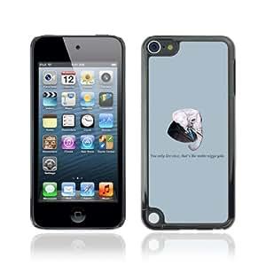 CQ Tech Phone Accessory: Carcasa Trasera Rigida Aluminio Para Apple iPod Touch 5 - Funny Gangsta Elephant Message