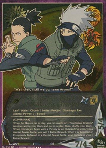Naruto - Shikamaru Nara & Kakashi Hatake [Clever Play] 730 - Broken Promise - Super Rare - Foil - 1st Edition