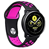 Choosebuy for Samsung Galaxy Watch Active Small Silicone Replacement Band Wrist Strap (Hot Pink)