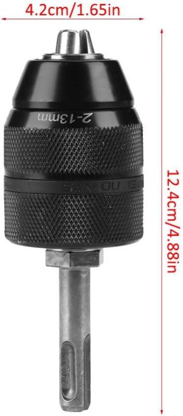 mandrin de per/çage 2-13 mm Outil de conversion de mandrin sans cl/é Convertisseur de mandrin de tour sans cl/é avec adaptateur SDS Accessoires Mandrin de per/çage sans cl/é