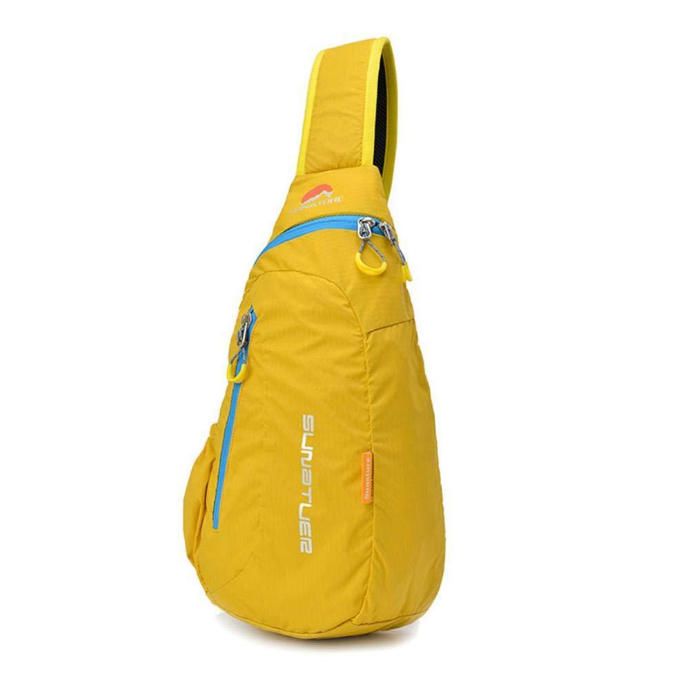 Stimmt レディース スリングバッグ ファッション かわいい クロスボディ ショルダーバッグ カラフル ハイキング バックパック トライアングル ロープ カジュアル デイパック ハイキング キャンプ サイクリング  ゴールデンイエロー B07G86DBXY