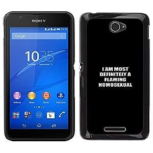 EJOY---Cubierta de la caja de protección la piel dura para el / Sony Xperia E4 / --Homosexual