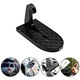 Aolvo Vehicle Hooked on U Shaped Slam Latch Doorstep with Safety Hammer Function for Easy Access to Car Rooftop Roof-rack,Doorstep for Car, Jeep, SUV
