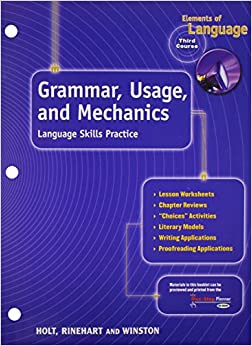 =REPACK= Elements Of Language, 3rd Course, Grade 9: Grammar Usage And Mechanics- Language Skills Practice. Visit Sewing Fitbit gives Under