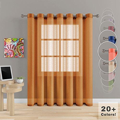 Cheap  Grommet Semi Sheer Luxury 1 Double Wide Curtain Panel Window Home Decor..