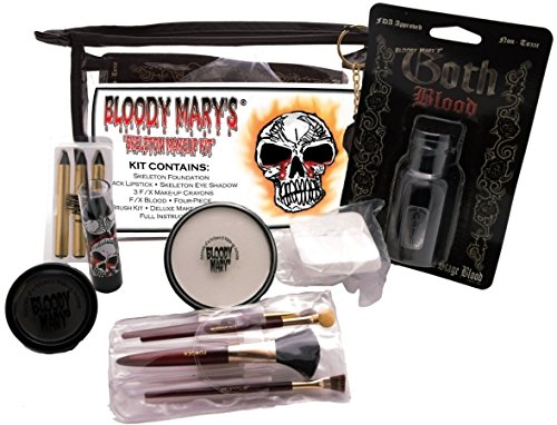 [Bloody Mary Skeleton Professional Undead Makeup Kit] (Skeleton Makeup)