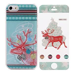 SJT Merry Christmas Elk Pattern While Calling Or Called Lightning Flash Led Case for iPhone 5/5S