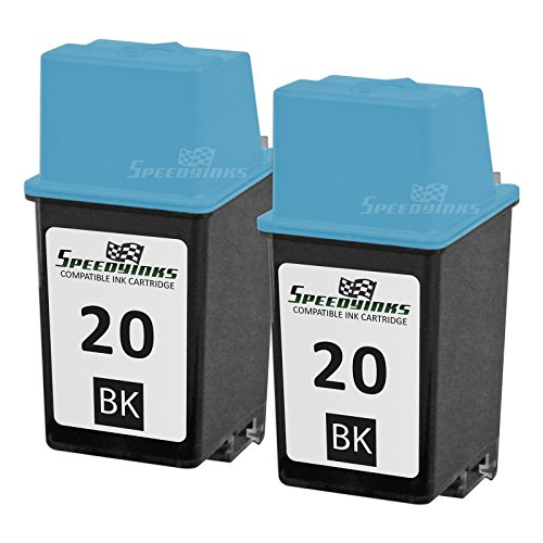 Speedy Inks - 2PK Remanufactured Replacement for HP 20 C6614DN Black Ink Cartridge for use in Apollo P2100U, P2200, P2300U, P2500, P2600, Deskjet 610, 610C, 610CL, 612, 612C, 630 , Deskjet 630C, 632