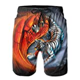 tiger rice cooker jbv - Mans Yin And Yang Tiger Cute Shorts