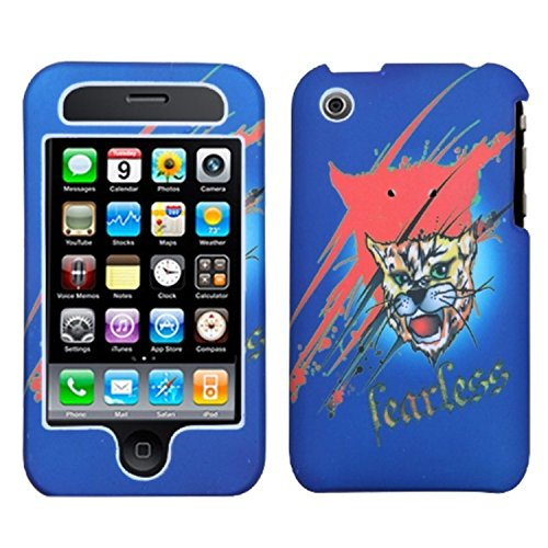 (MYBAT IPHONE3GHPCLZ504NP Lizzo Durable Protective Case for iPhone 3G - 1 Pack - Retail Packaging - Bobcat Blue )