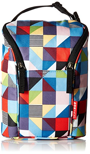 Skip Hop Insulated Breastmilk Cooler And Baby Bottle Bag, Grab & Go Double, Prisms