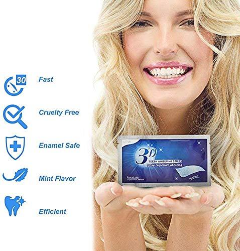Blanchiment Dentaire,Blanchiment des Dents,Bandes de blanchiment dentaire,Teeth Whitening 28 Rubans Blanc,Menthe