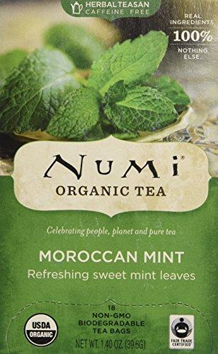 Organic Teas and Teasans, 1.4oz, Moroccan Mint, 18 per Box Sensual Mint
