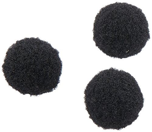 Darice 100-Piece Acrylic Pom Pom, 1/2-Inch, Black