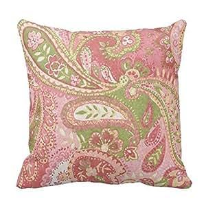 Pink leaf Throw Pillow Case Shell Decorative Pillowcase 18 X 18