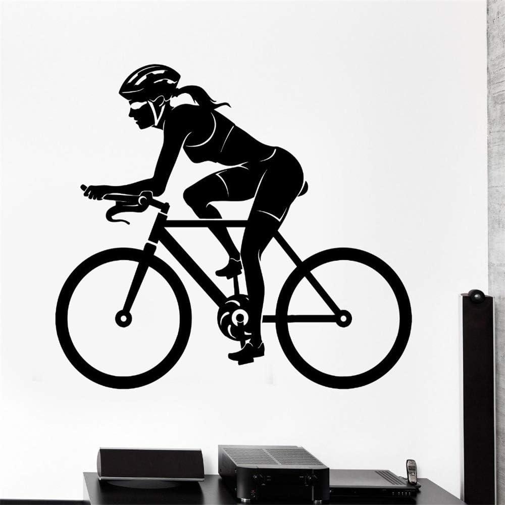 yiyiyaya Etiqueta de la Pared Deporte Bicicleta Mujer Mujer ...