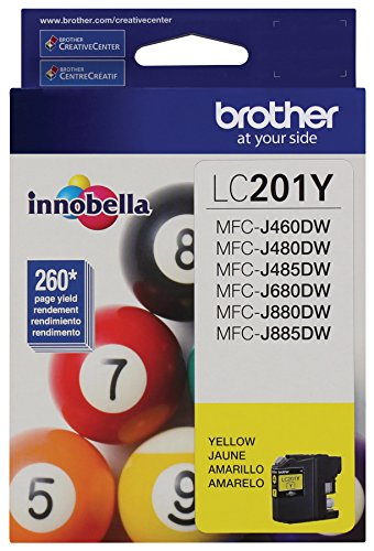 Brother LC201Y Innobella Ink, Yellow -BRTLC201Y