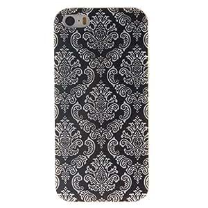 case cover para Apple iPhone 5 5S / SE,Crisant Tótem flor Diseño Protección suave TPU Gel silicona Teléfono Celular Back funda Carcasa para Apple iPhone 5 5S / SE