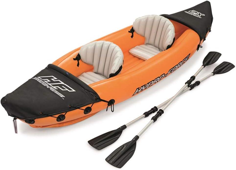 2 Personas Barca Hinchable Kayak Inflable Lancha Bote Inflable con Paddle Barco De Caucho Explorador De La Canoa del Kajak Cargar 160KG Material De 0,57 Mm CLORURO DE POLIVINILO