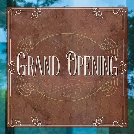 CGSignLab Grand Opening 24x24 5-Pack Victorian Card Window Cling
