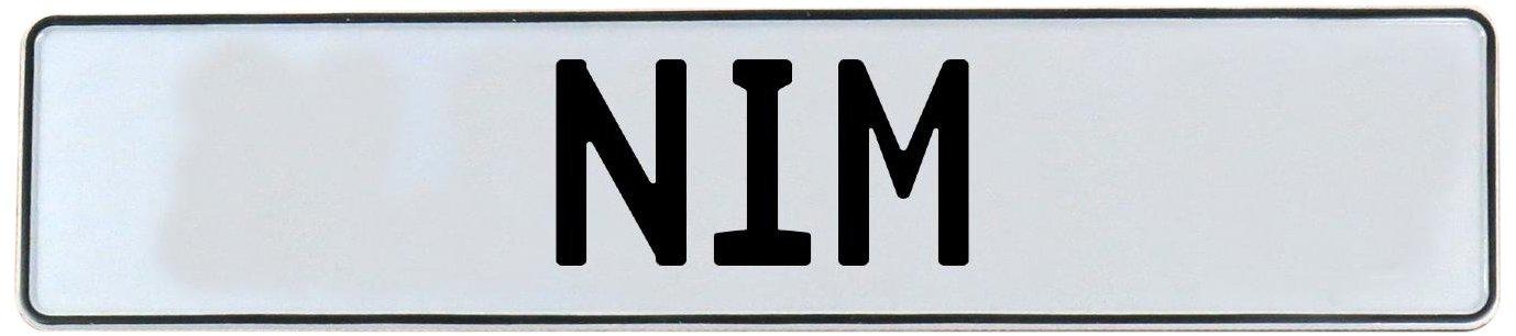 Nim White Stamped Aluminum Street Sign Mancave Vintage Parts 716658 Wall Art