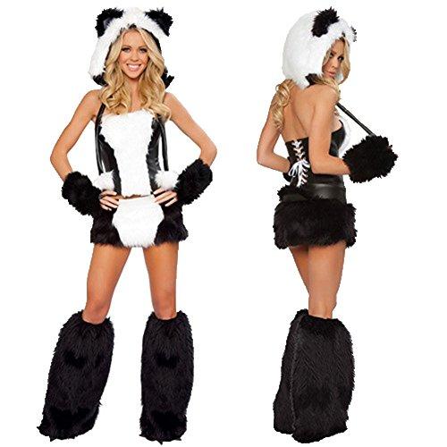 Sexy Panda Bear (Smile Polar bear Halloween costume dress Gray Wolf Panda cosplay uniform temptation)