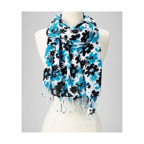 0dc0c9031 Amtal Fashion Floral Abstract Design Lightweight Spring Summer Scarfs for  Women