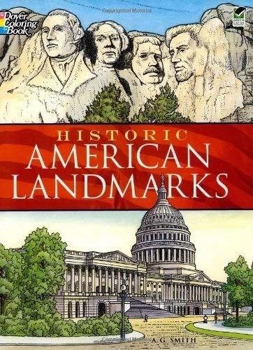 Historic American Landmarks (Dover History Coloring Book)