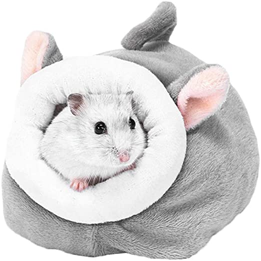 AZXAZ Cama de Invierno de algodón Suave para hámster con Forma de Cueva de Animales pequeños y cálidos, para hámster, cobaya, Cerdo, Ardilla, Erizo: Amazon.es: Productos para mascotas