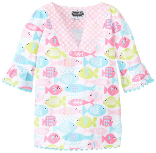 Mud Pie Baby Girls' Fish Cover Up, Multi, 12 18 Months (Baby Girl Swimsuit Mud Pie compare prices)