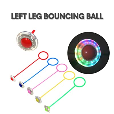 Weixinbuy Skip Ball for Kids, Ankle Skip Ball Flash Jump Ring Sports Swing Ball Fitness Jump Rope Game for Girls and Boys: Toys & Games