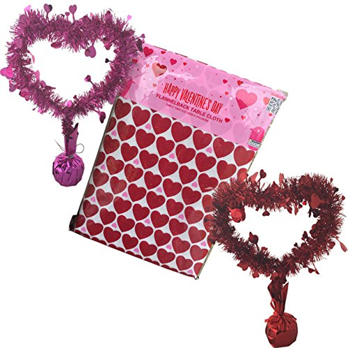 Valentines Day Party Table Decoration Set - Vinyl Heart T...