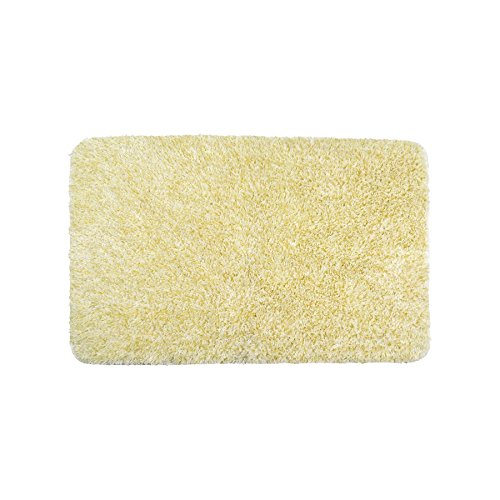 Plain tinsel cream gold bathmat bath mat rug w50 x l80cm for Cream and gold bathroom accessories