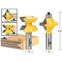 Yonico 15223 Matched Tongue and Groove Router Bit Set with Edge Banding 1/2-Inch Shank by Yonico