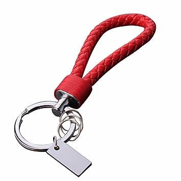 Amazon.com: sikye llavero, trenzado Cordón de piel Titular ...