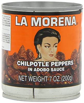 La Morena Chipotle Peppers in Adobo Sauce, 7-Ounce Tins (Pack of 6) by Los Chileros