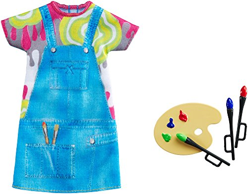 Barbie Fashions - Painting Pretty Artist Barbie Doll Outfit With Color Palette & Paintbrushes