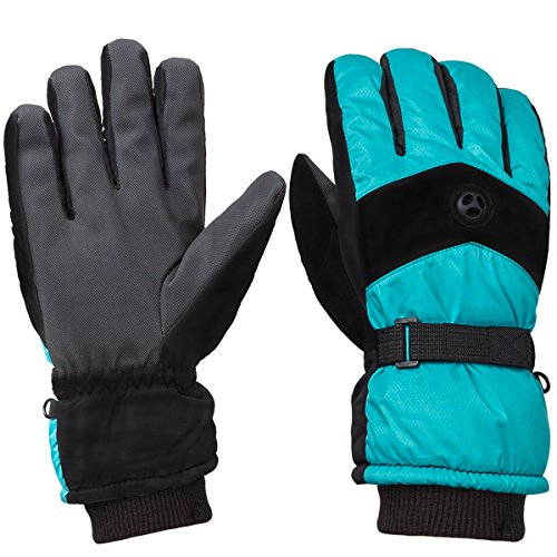 WILD SNOW Men's Waterproof Ski Gloves Winter Fashion Windproof Warm Gloves for Snowboarding Working Size XL