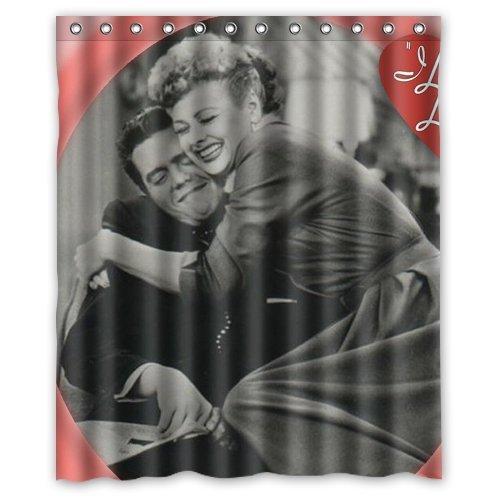 Great Design I Love Lucy Custom Shower Curtain 60 x 72 Inch Cover - I Love Lucy Shower Curtain