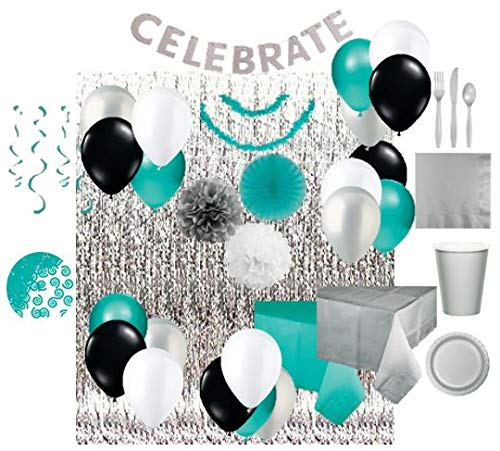 Ultimate Party Pack - for 24 (Teal/Silver)
