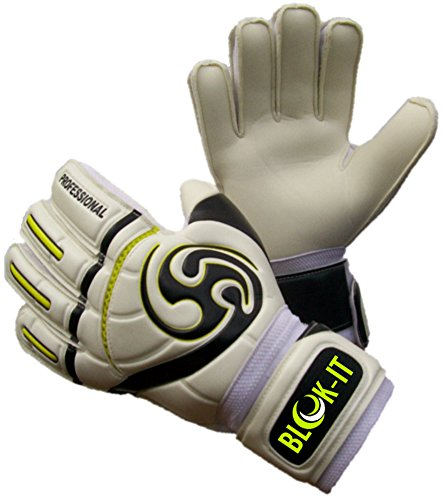 Blok-IT Goalkeeper Gloves By Goalie Gloves to Help You Make the Toughest Saves – Secure and Comfortable Fit With Extra Padding to Reduce the Chance of Injury – DiZiSports Store