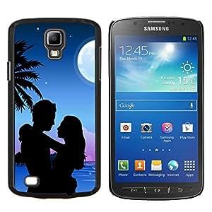 "Be-Star Único Patrón Plástico Duro Fundas Cover Cubre Hard Case Cover Para Samsung i9295 Galaxy S4 Active / i537 (NOT S4) ( Luna Pareja Amor Romance Beach Palmera"" )"