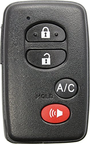 [ReplaceMyRemote New 2010 2011 2012 2013 2014 2015 Toyota Prius 4 Button Keyless Entry Smart Remote Shell Case Housing Only w/ Uncut Emergency Key - FCC ID: HYQ14ACX (One)] (Toyota Electric Plug In)
