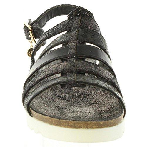Sandalias 30435 de Mujer Negro XTI Metalizado rBvrxT